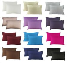 MIXED COLORS: PAIR of 100% Mulberry Silk Pillowcases / slips / cover - STANDARD