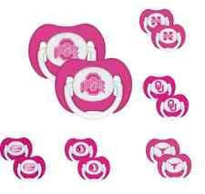 NFL Football Logo PINK Baby Pacifier 2-Pack - New - Pick Your Team!