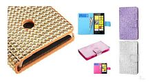 Nokia Lumina 520 Color Stone Book-Style Card Wallet Stand Protector Cover Case