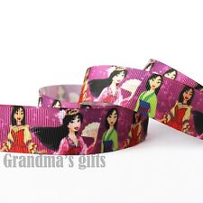 "1""25mm Princess Printed Grosgrain Ribbon 5/50/100 Yards Hairbow Wholesale"