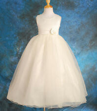 Jane Flower Girl 1st Holy Communion Bridesmaid White/pink Dress Age 3-10 Years