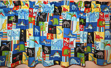 New ANIMALS blue DINO patch SCHOOL dinosaurs nursery kids valance