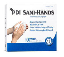 PDI Sani-Hands Individual Hand Sanitizing Wipes -100/bx, 1 2 4 10 Box Variations