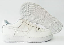 Scarpe Nike Air Force 1 PS Basse  Bianche Pelle Bambino Bambina Sneakers Nuovo