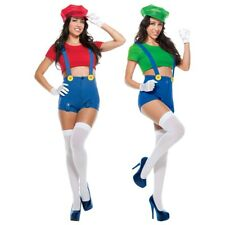 Sexy Mario and Luigi Costumes Adult Womens Group Ideas Halloween Fancy Dress
