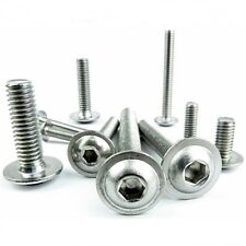 M3 STAINLESS STEEL FLANGE BOLTS BUTTON HEAD DOME HEAD BOLTS ALLEN SCREWS A2