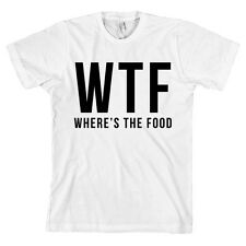 WTF Where's The Food AMERICAN APPAREL T Shirt Funny Fashion Tee Foodie NEW