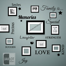 FAMILY IS Words Wall Art Quote - Vinyl Decal Stickers for Picture Frames