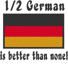 1/2 German is better than none! Germany Flag. Carter's Baby Bodysuit Embroidery