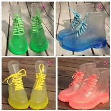 Fast ship from CA-USA!Fashion transparent waterproof Rain boots in Candy colors