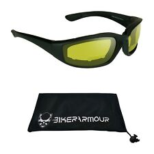 Z87 Motorcycle Bifocal Safety Glasses Goggles Night Riding Yellow Anti Glare