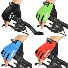 Cycling Bike Bicycle Fingerless Half Finger GEL Silicone Gloves Mittens Mitts