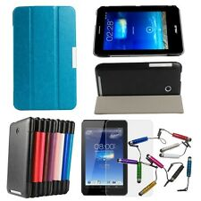 "3 Fold Stand PU Case Cover For Asus Fone Pad 7 ME 175CG 7"" Tablet Film & Stylus"