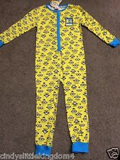 New Despicable Me 2 Minions boys yellow all in one onesie nightwear sleepwear