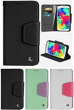 NEW INFOLIO WALLET ID CREDIT CARD CASH CASE STAND FOR SAMSUNG GALAXY S5 MINI