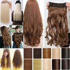 invisible 17/23 Curly/Wavy Hair Extension Clip in Hair Extensions 5 Clips wm