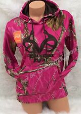 NEW! REALTREE Womens HOT PINK Camo Brown Accents Pullover Hoodie Jacket S M L XL