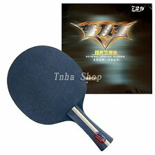 HRT Blue Crystal with 2x 729 General Rubbers for a table tennis racket