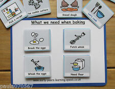 Let's learn how to cook cards~ Now next and later~Pecs~Autism ~ASD~SEN~Schools