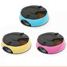 Automatic LCD Digital 6-Meal Pet Cat Dog's Timing Feeder Dispenser Food Bowls