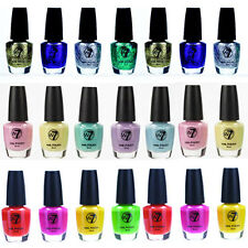 W7 COLOURED NAIL POLISH GLITTER CRACKLE VARNISH -  COLOURS 1 - 164