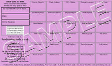 50 `Last Gasp Try` Rugby Union Raffle Ticket / Draw Cards