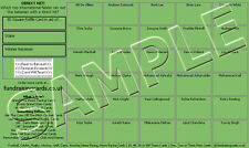 50 Assorted Theme Cricket Raffle Ticket / Draw Cards
