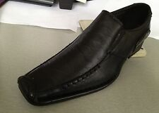 Men's dress shoes slip-on Synthetic Leather Black Solid/Printed # 5745