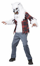 White Werewolf Howling at the Moon Child Costume