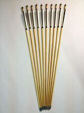 12PK Hunting Wood Arrows Turkeys Feather 100grain Archery For Longbow Recurve