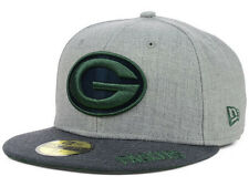 Official Green Bay Packers New Era 59FIFTY Fitted Hat NFL Heather 2 Tone