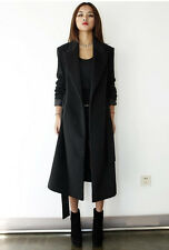 2013 new fall winter fashion ladies extra long wool coat jacket #47