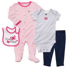 NWT $26 Carter's 6M 9M Baby Girl Butterfly 4-Piece Layette Outfit Set Clothes