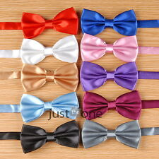 Classic Fashion Novelty Mens Adjustable Tuxedo Wedding Bow Tie Necktie Satin Hot
