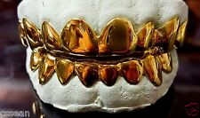 10K Solid Yellow Gold Custom fit REAL Grill Gold Teeth GRILLZ.