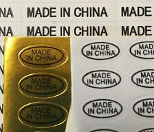 Made in China Mini Business Self Adhesive White Stickers Tags Labels Lot
