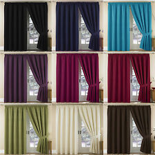 Thermal Blockout Pair Tape Top Ready Made Acrylic Lined Curtains In 11 Colours