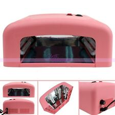 36W UV Lamp Light Nail Art Soak-Off Gel Curing Polish Light Dryer 4 X 9W Tube