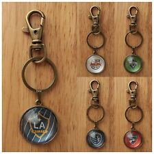 2014 MLS Club East West Soccer Jersey Badge Crest Logo Zodiac Key Chain Pendants