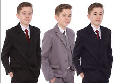 Boys Cheap Suit Navy,  Black or Grey Autumn  Wedding Special Occasion 1-15 Years