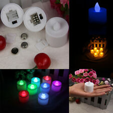 more pcs Led Battery Operated Flame Tealight Candles multi-color Wedding Party