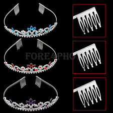 Hot Bridal Crystal Rhinestone Hair Tiara Headband Wedding Party Prom Jewelry