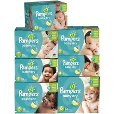 Baby Pampers Dry Diapers Size 1 2 3 4 5 6 Count Newborn Free Shipping Bulk Super