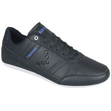 NEW MENS SONNETI SCARASTA DESIGNER RACER TRAINERS CASUAL SMART SHOES NAVY BLUE