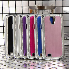 Luxury Aluminum Chrome Bling Case Cover for Samsung Galaxy S4 IV i9500 w/ Film