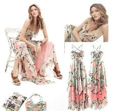 J101 WOMENS LONG DRESS CHIFFON BOHEMIA SPRING SUNDRESS