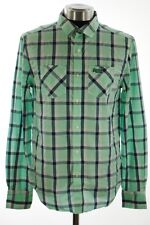 New Mens Superdry Paperweight Madras Shirt Albion Vintage Madras Spearmint AA