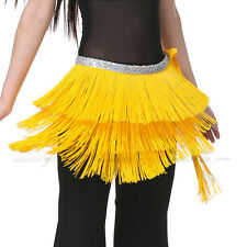 New 3 Layers Short Tassels Hip Scarf Belly Dance Costumes Dancewear 12 colors