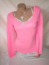Nwt American Eagle Outfitters Bright Pink Slouchy T Shirt Blouse Top PRETTY !