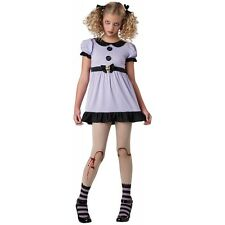 Creepy Doll Costume Tween Kids Dead Dolly Gothic & Scary Halloween Fancy Dress